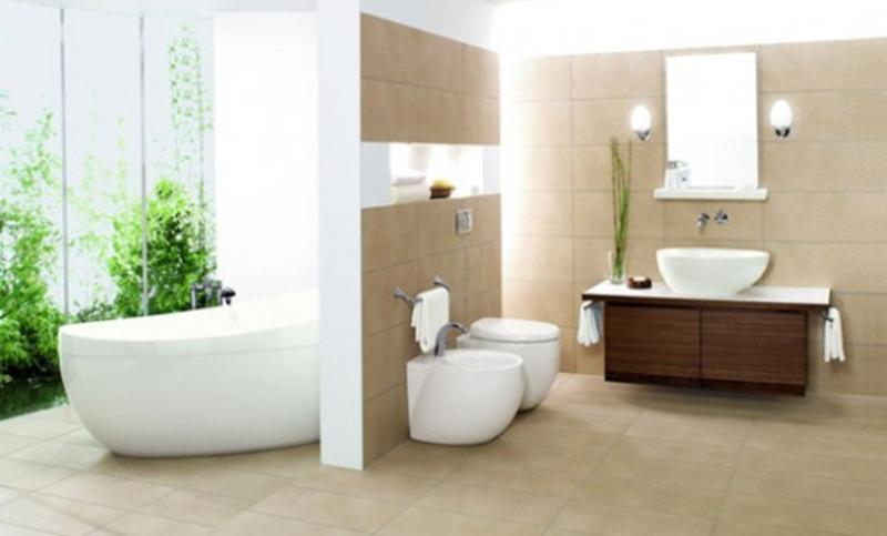 Minimalistinis Retro O Gal Modernus Vonios Kambarys